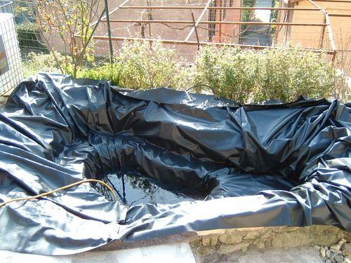 bache de bassin de jardin