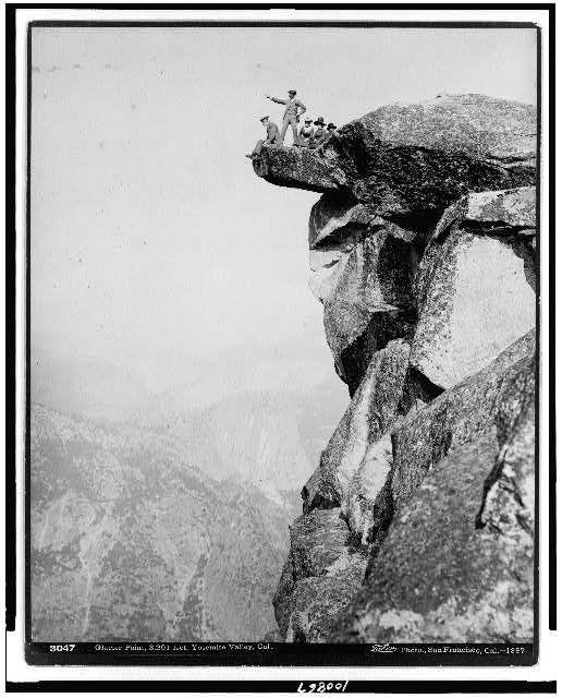 Glacier Point, 3201 feet, Yosemite Valley, Cal.
