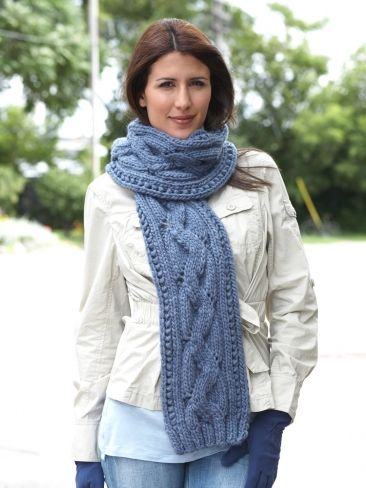 Free Knitting Pattern Chunky Cable Scarf : Zig Zag Scarf Yarn Free Knitting Patterns Crochet Patterns Yarnspirat...