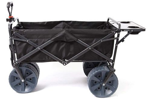 Mac Sports Heavy Duty Collapsible Folding Wagon Beach Cart Beach Cart Utility Wagon Beach Wagon