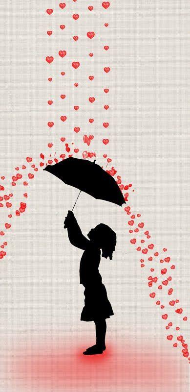 Raining hearts.