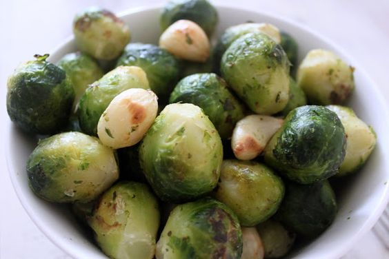 Garlic Roasted Brussel Sprouts 1 Points +