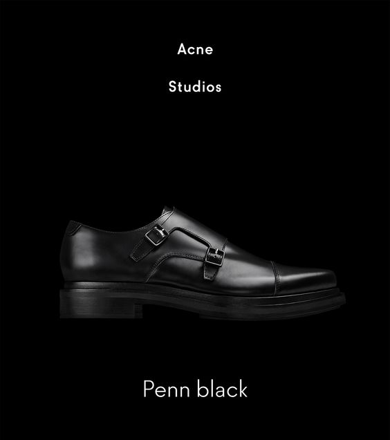 Acne: New arrival: Penn black shoes | Milled