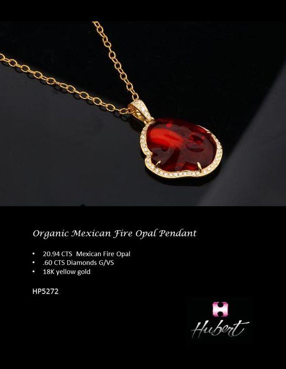 HP5272-Organic Mexican Fire Opal Pendant