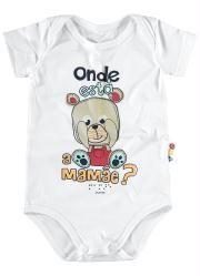 Body Ursinho Bebê Branco Zig Zig Zaa