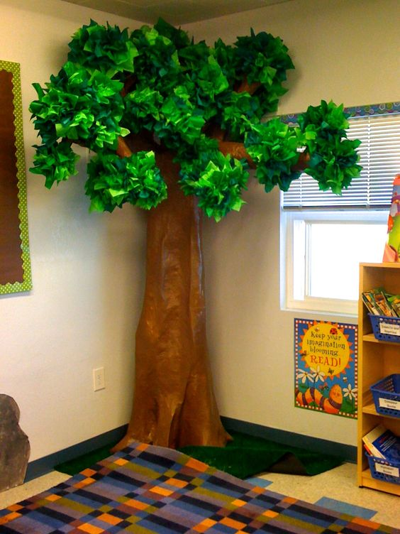 Apple Tree Classroom Ideas ~ Our d tree for my forest explorer theme took forever to