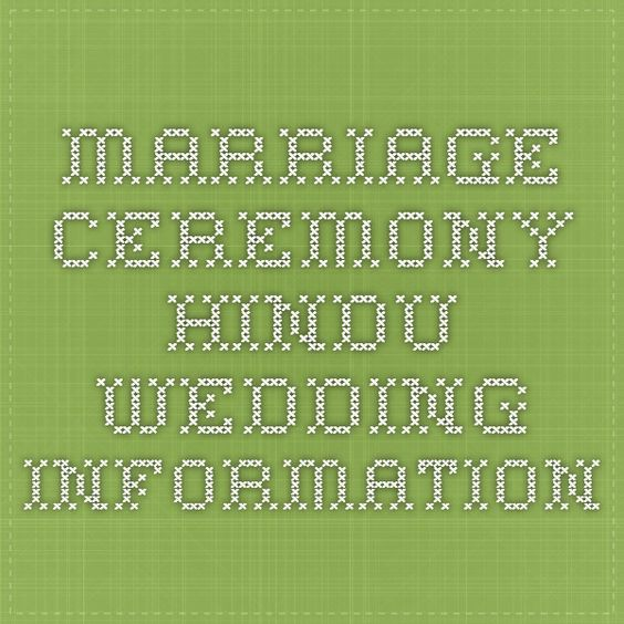 Marriage Ceremony - Hindu Wedding Information   winter wedding ...