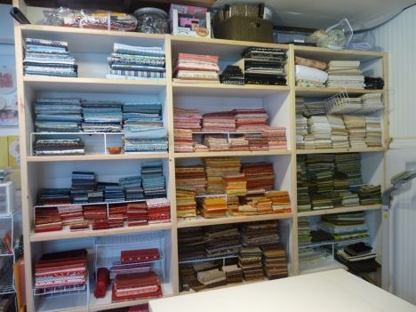 Lots of fabric organization ideas because of moving times few a lot of variety
