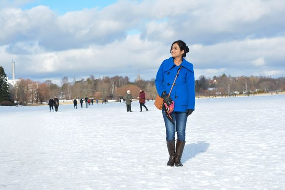 Walking on frozen water is a popular winter activity in Finland. Here's how the Finns pull it off!