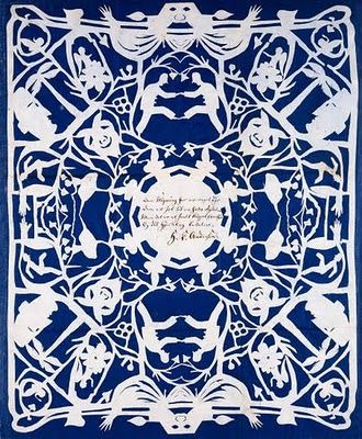 Paper cutting by Hans Christian Anderson - waaaaay before your time Rob Ryan :)