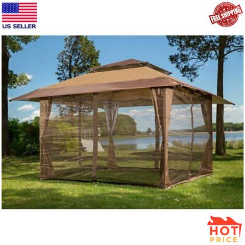 Sunjoy S Gz001 E Mn 10 X 10 Mosquito Netting Panels For Gazebo Canopy Gazebo Canopy Gazebo Backyard Gazebo
