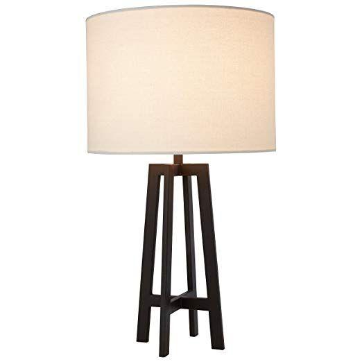 Stone Beam Deco Black Metal Table Lamp 20 75 H With Bulb White Shade Lamp Desk Lamps Living Room Metal Table Lamps