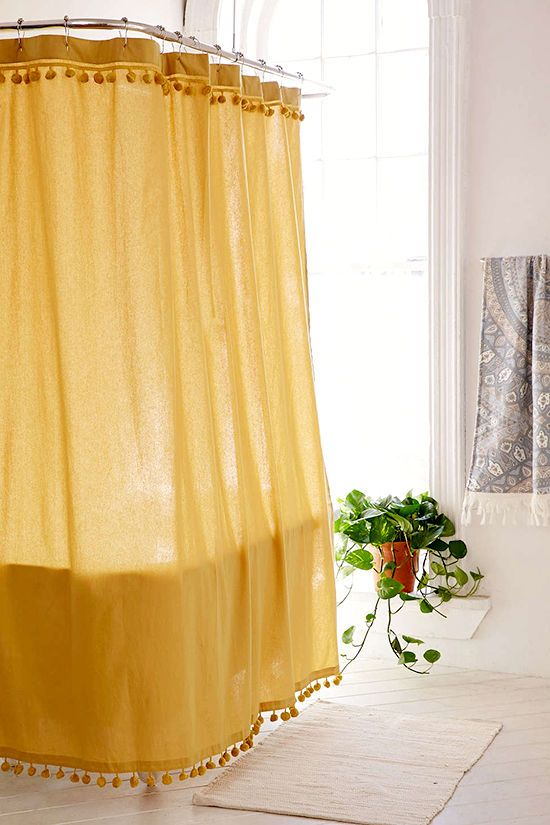 Delighted Mustard Yellow Shower Curtain Images - Bathtub for ...