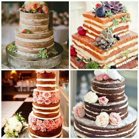 Even with no icing or fondant these cakes look so beautiful and yummy!