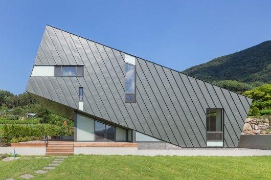 Leaning House Architects: PRAUD Location: 중평저수지, Maryeong-myeon, Jinan-gun Architects In Charge: Dongwoo Yim, Rafael Luna