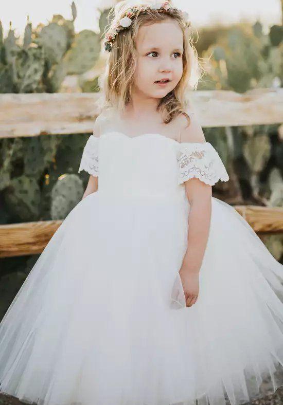 Ivory Wedding Flower Girl Dress-Wedding Flower Girl Tutu-Ivory Flower Girl Dress-Ivory Tulle Dress-Toddler Dress-Ivory Girl Dress-Ivory Lace