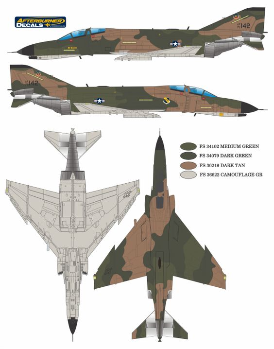 F-4C/D/E Phantom II Southeast Asia (USAF SEA) Color Profile and Paint Guide Updated