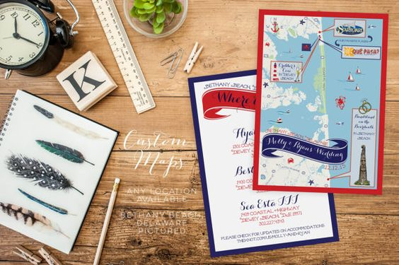 Custom Wedding MAP-Any Location by FeatheredHeartPrints on Etsy