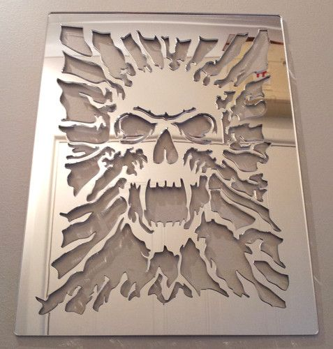 Skull Mirror, Shatterproof LASERCUT Stencil, Acrylic Mirror, Bedroom 16-48CM NEW | eBay