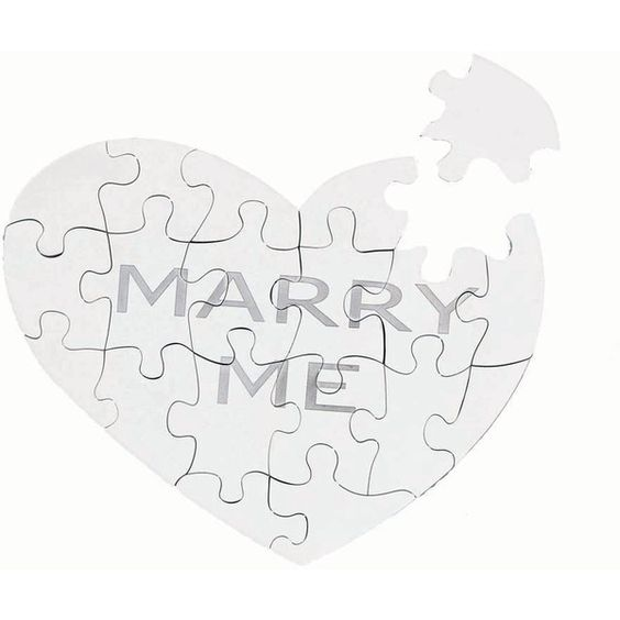 Asprey Marry Me Jigsaw Puzzle ($645) ❤ liked on Polyvore featuring wedding