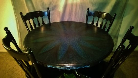 Christmas Sale Kitchen Dining Table Chairs by timewornunicorn, $250.00