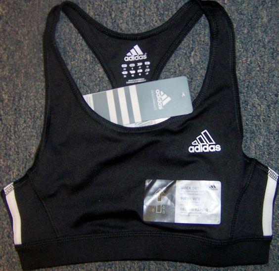 Adidas Bra Racerback Black A360 Victory  size Small  NWT $25   XX #Adidas #SportsBras #Everyday