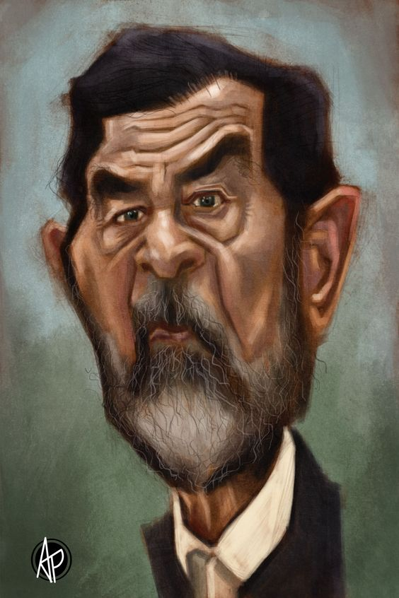 Caricatures, Saddam hussein and How to draw on Pinterest
