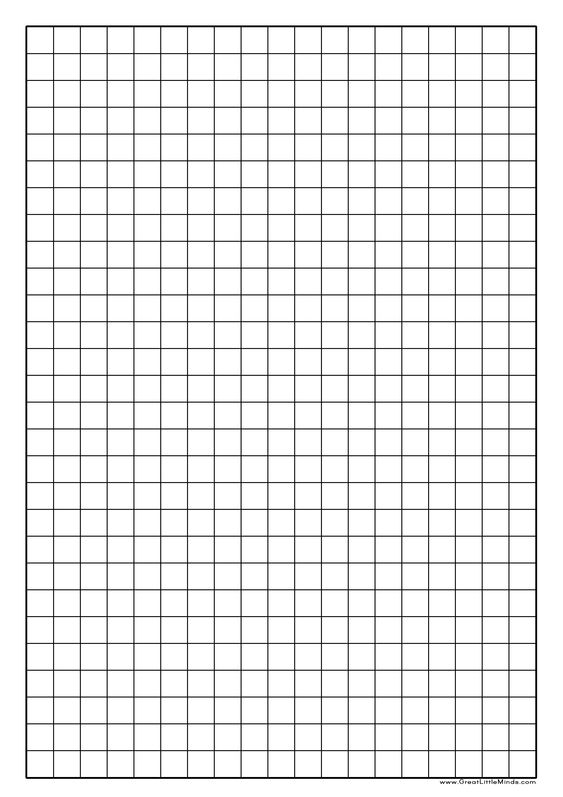 Number Names Worksheets » Large Square Grid Paper - Free Printable - math grid paper template