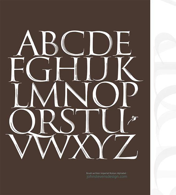 Roman Alphabet And Brushes On Pinterest