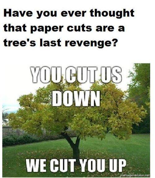 Paper cuts are a tree's last revenge.