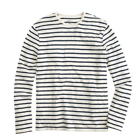 multiple colors info for good quality J.Crew National Stripes Day: men's long-sleeve deck-striped T ...