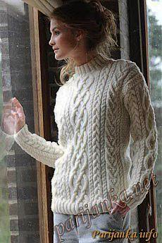 Пуловер с коротким воротником (ж) 30*159 (Бержер)