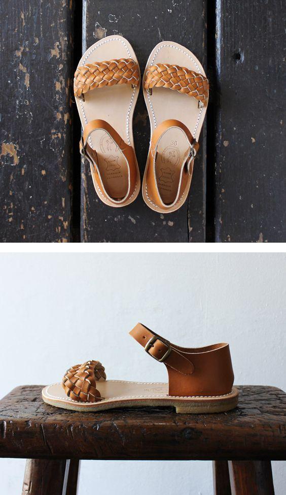 [LA BOTTE GARDIANE] mesh leather sandal
