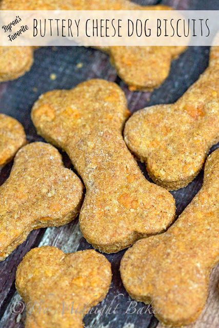 Byron's Favorite Buttery Cheese Dog Biscuits | bakeatmidnite.com | #dogbiscuits #pettreats #recipe