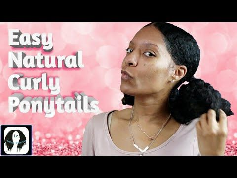 Easy Natural 2 Ponytail Hairstyle W Flexi Rods Youtube