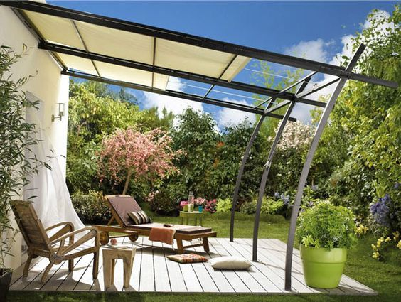 Anbaupergola Sydney Mit Verstellbarer Markise Gartenmobel Anbaupergola Garten Aussere Creation De Terrasse Pergola Tonnelle Adossee