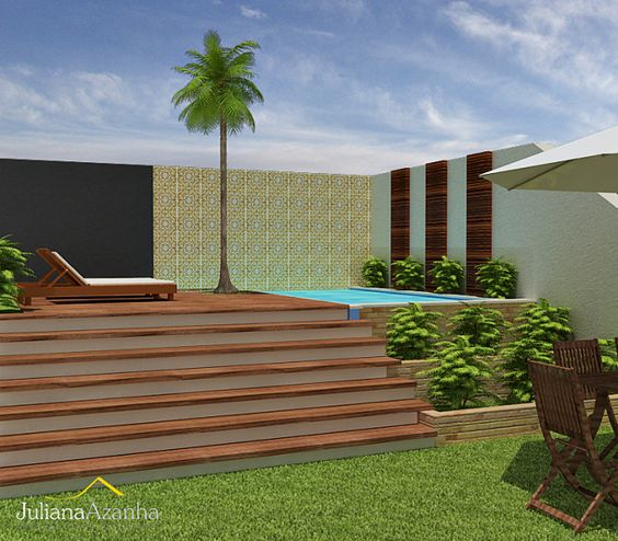 Rea de lazer com piscina 1 pequena rea de lazer - Fotos de piscinas modernas ...