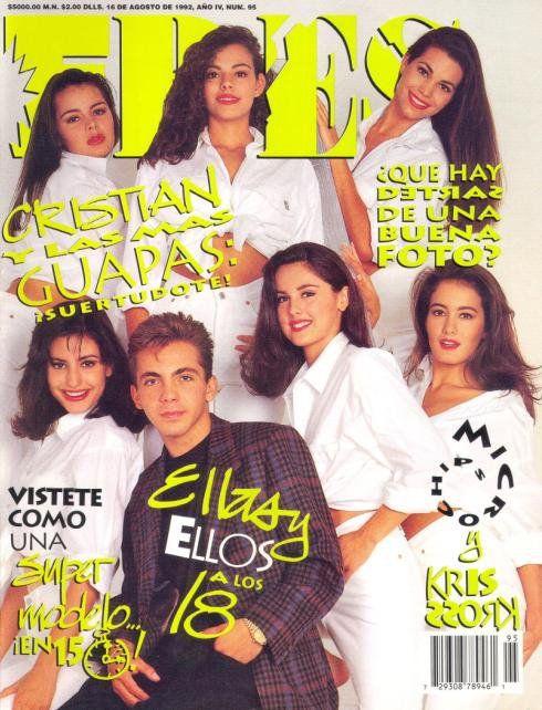Cristian Castro, Natalia Esperón y otras modelos