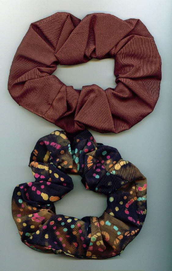 TWO Hair scrunchies Hair scrunchie Hair scrunchy by thriftyvicki, $4.50