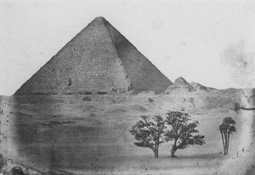 Maxime Du Camp - Égypt Moyenne: Pyramide de Chéops (December 1849)