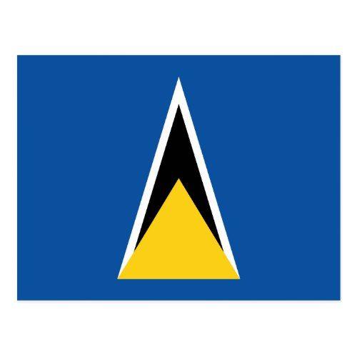 Flag Of Saint Lucia Postcard St Lucia St Lucia Flag Lucia