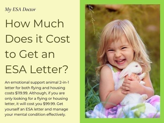 How Much Does It Cost To Get An Esa Letter Emotional Support Animal Emotional Support Esa Letter