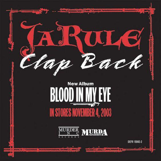 Ja Rule – Clap Back (single cover art)