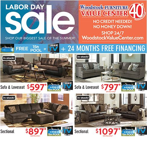 Spectacular Deals During Our Extended Labor Day Sale Get Free Tv Or 15 Ft Pool With Qualifying Furniture Pur Purchase Furniture Sofa Sale Steel Sofa