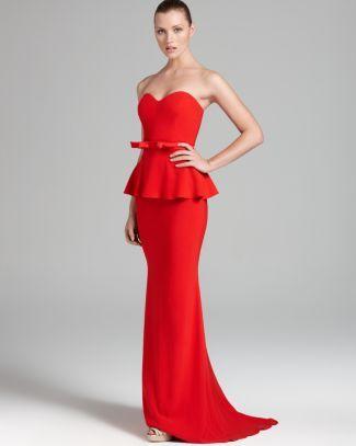Badgley Mischka Gown - Strapless Peplum  Bloomingdale's. so cute!