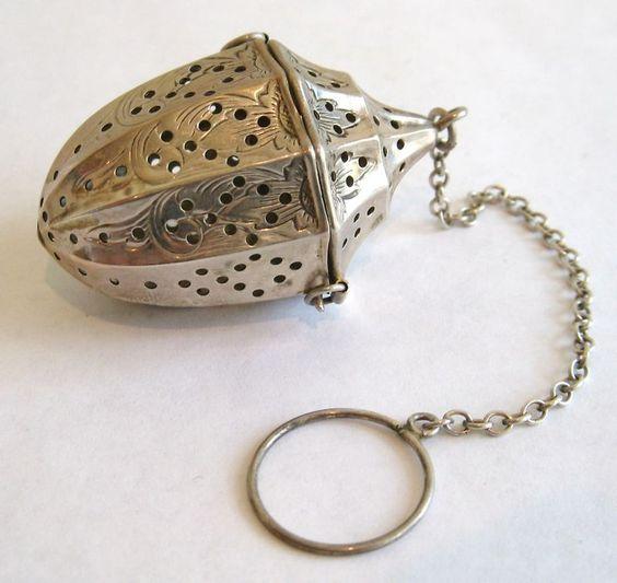 antique tea infuser http://www.ebay.com/itm/Antique-Victorian-Webster-Sterling-Tea-Ball-Infuser-Ex-/280629863077?pt=Antiques_Silver&hash=item4156d7e2a5