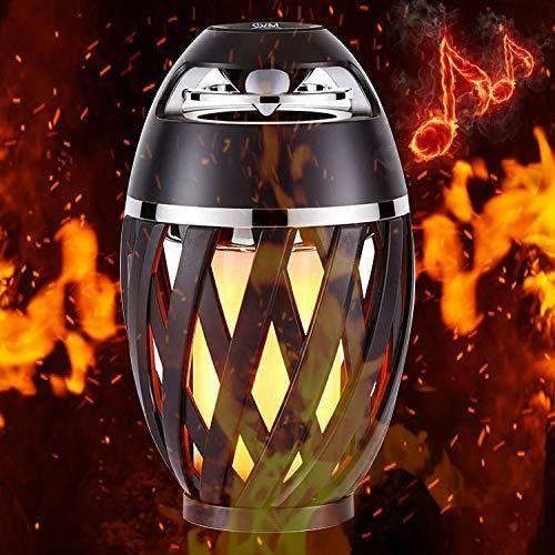 Flame Lamp Speaker Torch Atmosphere Outdoor Table Lamp Bluetooth Speaker Bt4 2 For Ip Wireless Speakers Bluetooth Outdoor Bluetooth Speakers Bluetooth Speakers