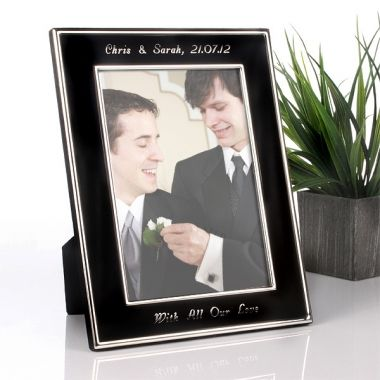 Engraved Black and Silver Frame