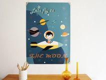 Poster Kinderzimmer Astronaout