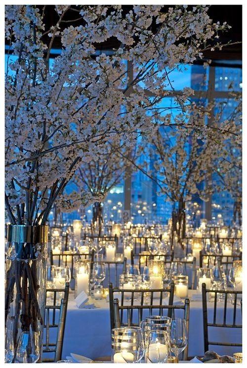 tree theme wedding decorations | Winter Wedding Inspiration Post | Pure Magnolia Wedding Dresses ...